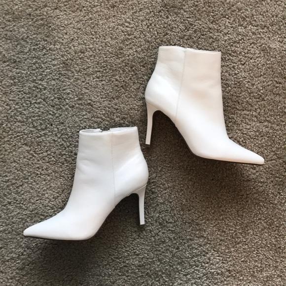 White Pointed Toe Booties | Poshmark